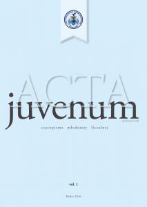 Acta Juvenum okładka1
